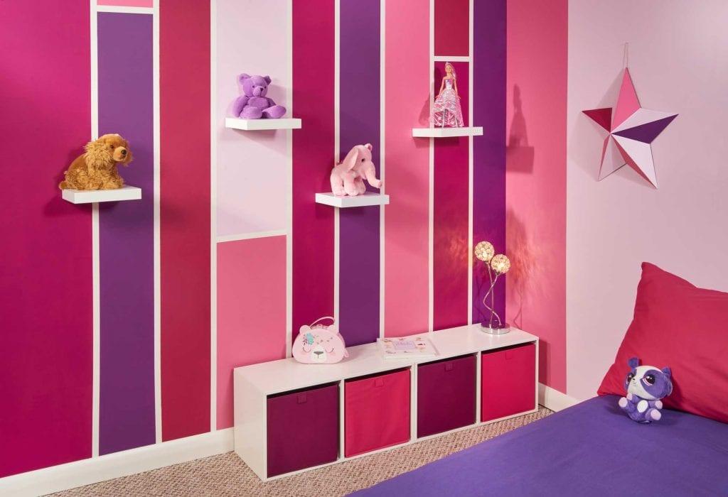 FrogTape Girl's bedroom